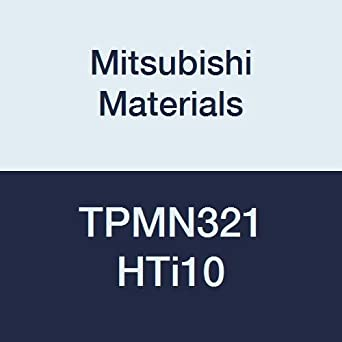 Triangular Mitsubishi Materials TPMN321 HTi10 Uncoated Carbide Milling Insert Class M Round Honing Pack of 10 0.016 Corner Radius 0.125 Thick Grade HTi10 0.375 Inscribed Circle