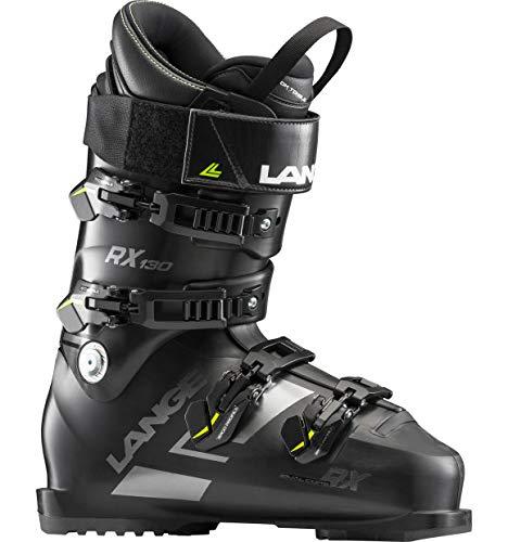 (Lange RX130 Ski Boots (Black/Metal, 26.5))