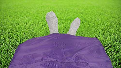 Sleeping Bag - Sleeping Bag for Indoor & Outdoor Use - Great for Kids, Boys, Girls, Teens & Adults. Ultralight and Compact Bags for Sleepover, Backpacking & Camping (Purple/Fuchsia Left Zipper)