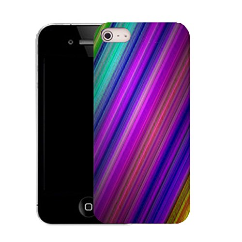 Mobile Case Mate IPhone 4 clip on Silicone Coque couverture case cover Pare-chocs + STYLET - stripey gradiant pattern (SILICON)