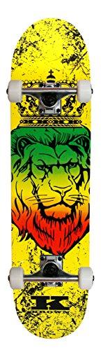 - Krown KRRC-52 Zion Lion Rookie Complete Skateboard, 7.5 x 31