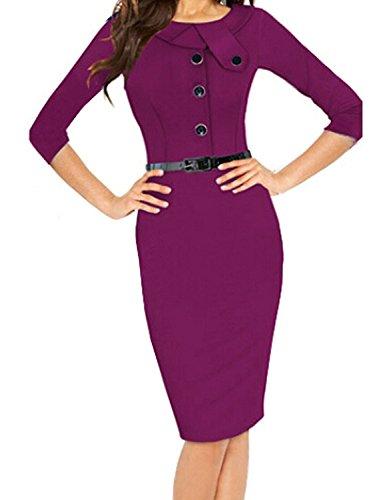 Lace Keyhole Fingerless Gloves (Jacob Oliver New style Womens Purple Botton Skirt Dress Size US 2 comfortable)