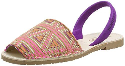 Solillas Punta, Sandalias con Correa de Tobillo para Mujer Morado (Purple)