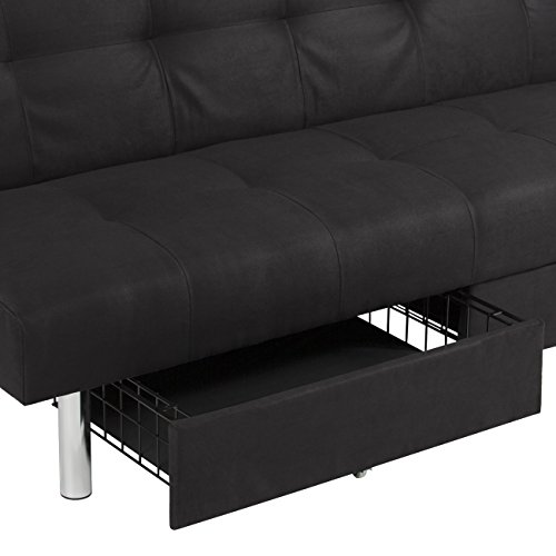 Best Choice Products Microfiber Futon Folding Sofa Bed