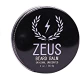 Zeus Conditioning Beard Balm for Men - Fragrance-Free, Unscented - 2 Oz - Natural Softening Conditioner for Facial Hair