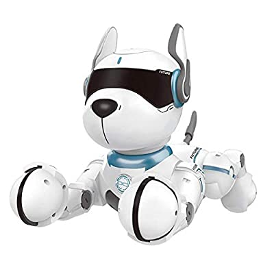 Goglor Smart Talking Robot Dogs, RC Wireless Remote Voice Control Intelligent Toys - Electronic Interactive Pet Puppy Robot Dog for Kids|Educational Sing/Dance/Walk/Study Multi Mode - USB Charging