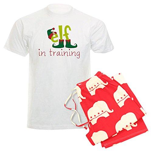 (CafePress - Elf In Training - Unisex Novelty Cotton Pajama Set, Comfortable PJ Sleepwear)