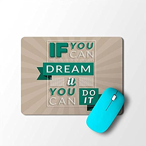 100yellow Motivational Quotes Designer Waterproof Coating Gaming Mouse Pad