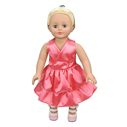 Banne Park Rids 18 Inches Simulation Pink New Bitty Baby Doll's Clothes Without sleeve (Princess Peach Costume Toddler)