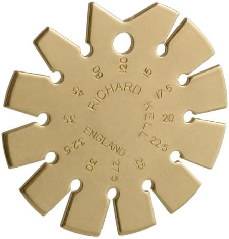 Richard Kell 625-3000 Brass Bevel Gauge
