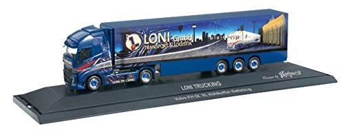 1/87 ボルボ FH Globetrotter XL 冷蔵 ボックストレーラー `Loni Trucking` 121545