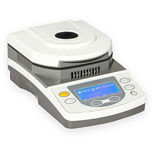 ZGUO Analizador de humedad digital de laboratorio rápido con calefacción halógena para materias primas químicas,...