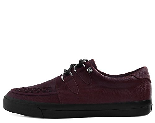 Shoes Toile Cire Vlk k u Rouge Sneaker Creeper Bourgogne T 6xFEOwE
