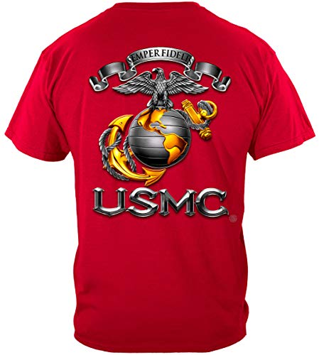 (Erazor Bits USMC t Shirts for Men | USMC-Semper Fidelis Shirt ADD80-MM118L)