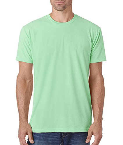 Next Level Men's Premium Fitted Sueded Crew, Mint, X-Large