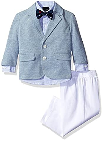 Nautica Baby Boys' Pique Knit Blazer and Dress Pant Set with Woven Shirt, Royal, 12 Months