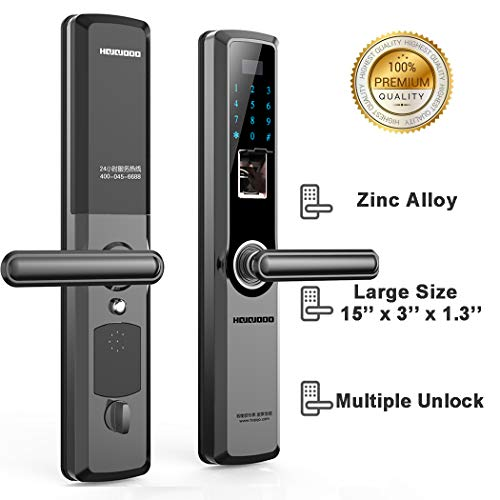 Large Size Zinc Alloy Door Locks – Fingerprint, Password, IC Card, or Key Open Only