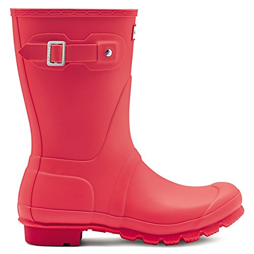 Hunter - Botas Cortas Originales, Brillantes, Coral
