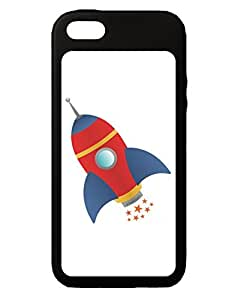 TooLoud Space Rocket Ship and Stars iPhone 5C Grip Case