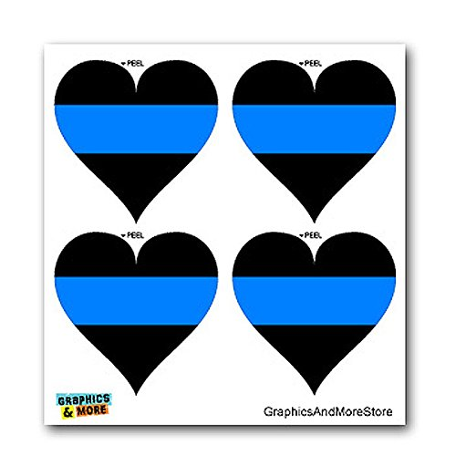 Thin Blue Line Heart Policemen