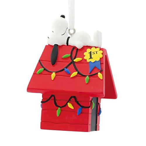 Hallmark Peanuts Snoopy on Doghouse Christmas Ornaments, Dog House (The Cast Christmas Hallmark Card)