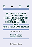 Selections from the Restatement (Second) Contracts and Uniform Commercial Code for First-Year Contracts: 2020 Statutory…