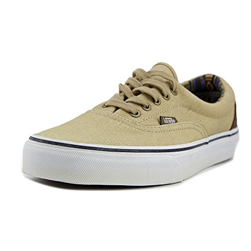 Vans Unisex Era Skate Shoes, Classic Low-Top Lace-up Style in Durable Double-Stitched Canvas and Original Waffle Outsole Khaki