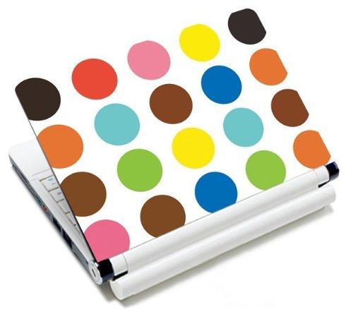 MySleeveDesign Notebook Skin Aufkleber Folie Sticker für Geräte der Größe 10,2 Zoll / 11,6 - 12,1 Zoll / 13,3 Zoll / 14 Zoll / 15,4 - 15,6 Zoll mit VERSCH. DESIGNS - Colored Points