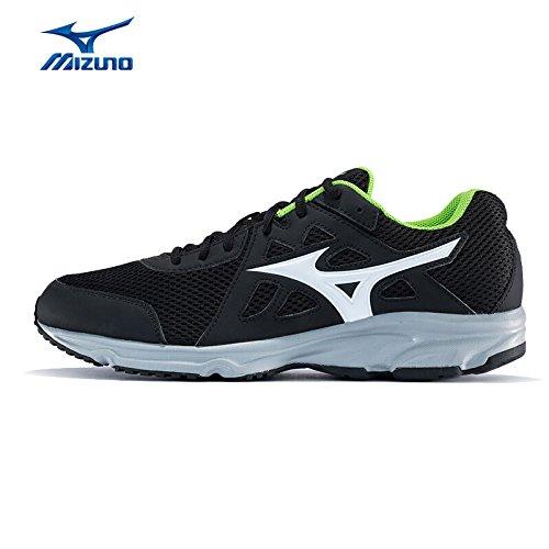 Mizuno Zapatos Running Hombre–Spark, Black/White/Jasmine Green, 40, Mizuno