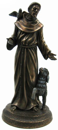 Saint Francis Bronze Religious Christian Catholic Statue (St Statue Francis Assisi)