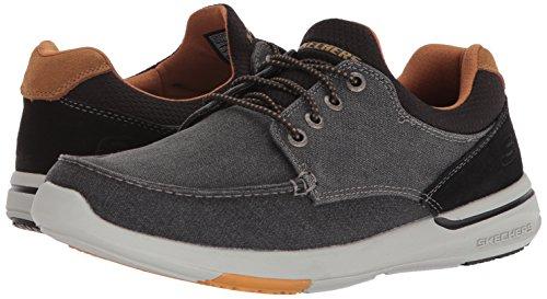 Skechers Men's Relaxed Fit-Elent-Mosen Boat Shoe,black,7 Extra Wide US