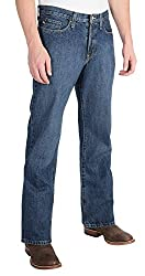 Southern Thread - The Stillwater Mens Blue Jeans - Relaxed Fit, Low Rise (30W 35L)