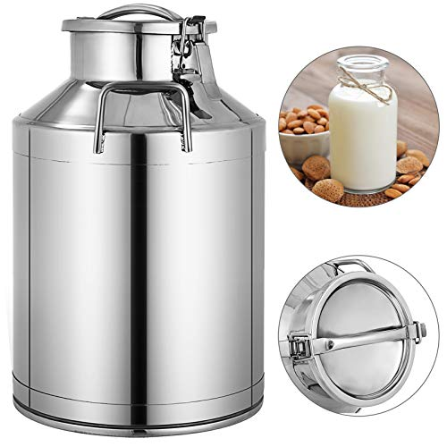 8 gallon stainless steel milk can - 4
