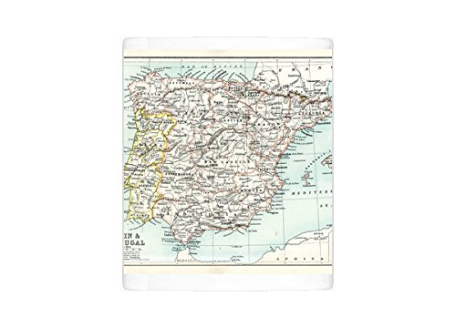 Mug of Antique map of Spain and Portugal (15107377) ()