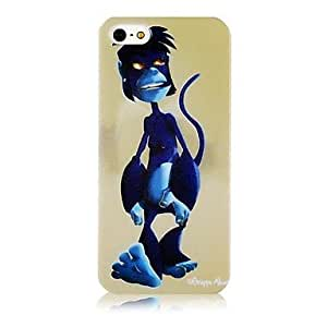 Bule Monkey Pattern Silicone Soft Case for iphone 6 4.7