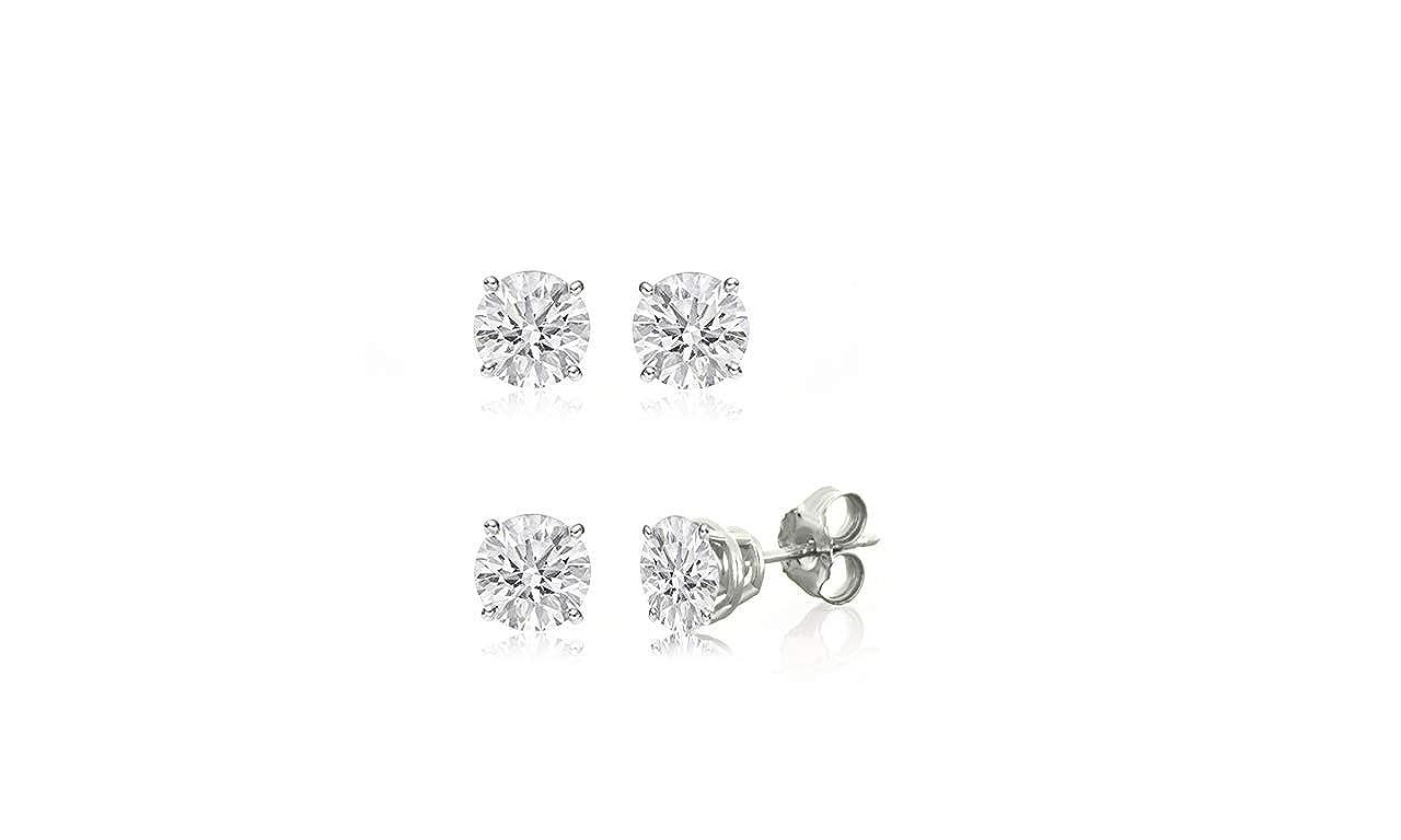 H-I, I1-I2 IGI Certified 10k Gold 0.10ct to 2ct Round Diamond Stud Earring
