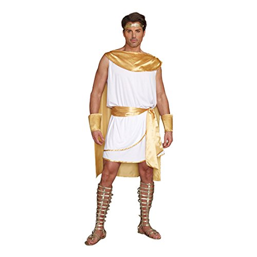 Dreamgirl Men's He's A God Costume, White,