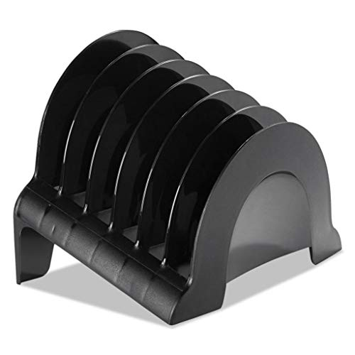 RUB86023 - Color : Black - Rubbermaid Regeneration Recycled Plastic Incline Sorter - Each