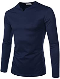 Sewing Line Point Long Sleeve Roundneck T-Shirts