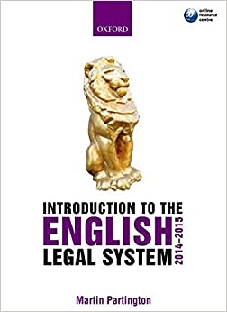 Book Introduction to the English Legal System 2014-2015 by Martin Partington (2014-06-17)