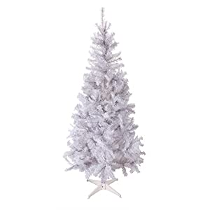 Homegear 6FT Deluxe 700 Tip Artificial White Xmas/Christmas Tree 2