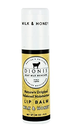 Dionis Goat Milk Skincare Lip Balm (Milk & Honey, 0.28 oz) (Honey Real Lip Balm)