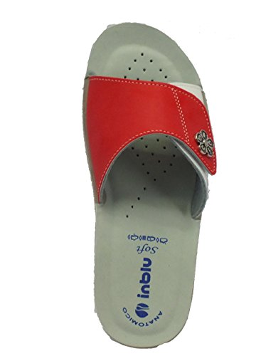 INBLU Vr000038 Corallo - Zapatillas de estar por casa de Material Sintético para mujer Coral