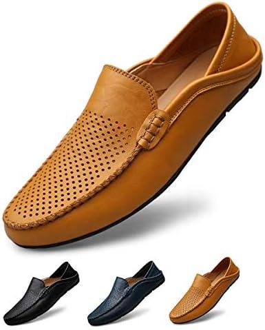 メンズ ドライビングシューズ 軽量 スリッポンシューズ 通気性の 2種履き方 クラシック 職場用 モカシン 靴 夏のホローカジュアルシューズ