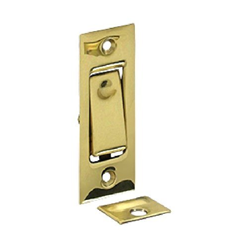 Deltana Polished Bolt - Deltana PDB42 3-1/16 Solid Brass Pocket Door Jamb Bolt Polished Brass by Deltana