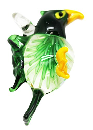 Green Colored Glass Eagle Pendant Charm ()