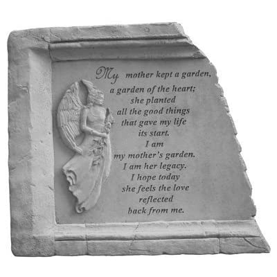 My Mother Kept A Garden Memorial Stone : Outdoor Decorative Stones : Garden & Outdoor