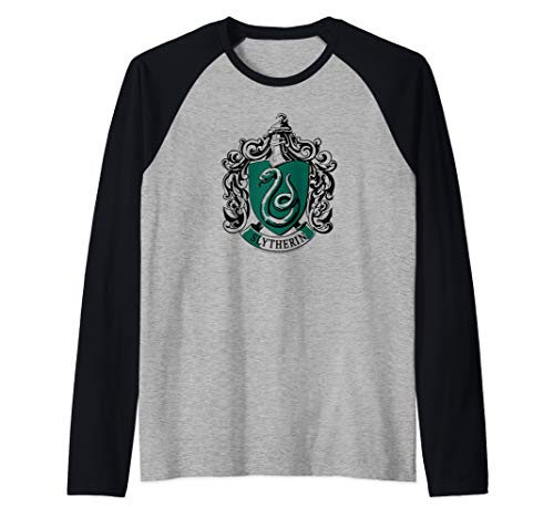 Harry Potter Slytherin Crest Raglan Baseball Tee
