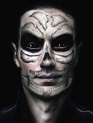 Halloween Temporary Costume Tattoo Kit Men or Women - (Skull) (Skull)