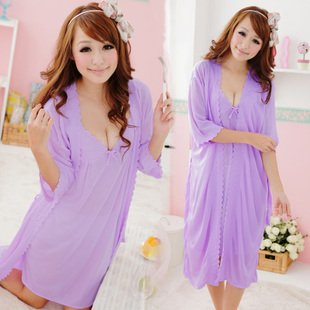 618fc0323ab6 Queen s park Cute princess lace nightgown female summer ice silk pajamas  sexy female seduction silk sling